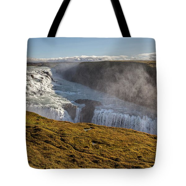 Waterfall Mist Of Iceland Tote Bag