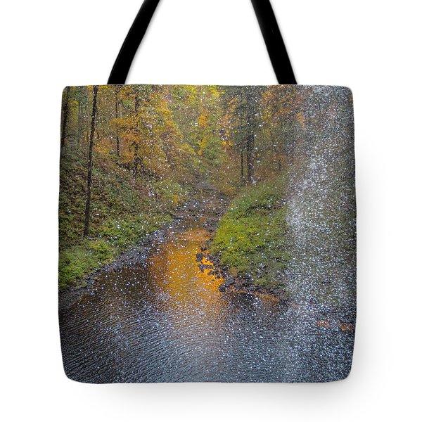 Waterfall Waterdrops Tote Bag