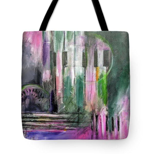 Tote Bag featuring the painting Watermelon Man by Jillian Goldberg
