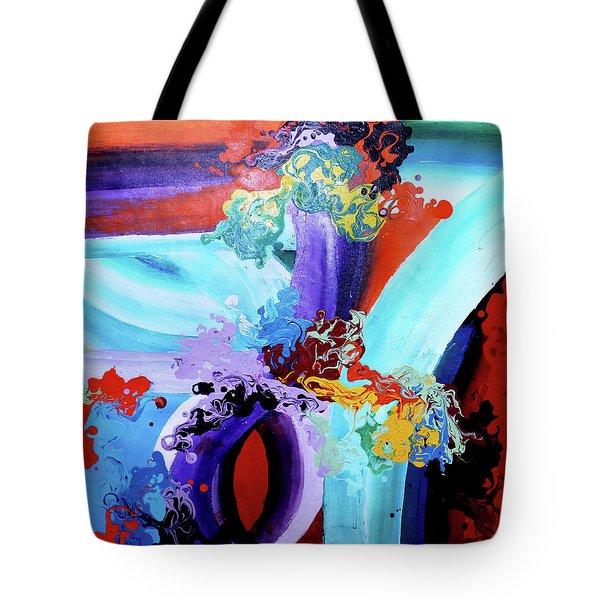 Watery Waves Tote Bag