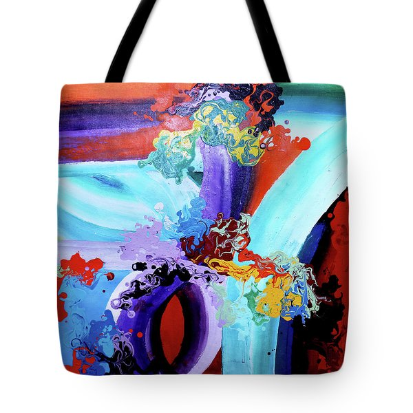 Watery Waves Tote Bag