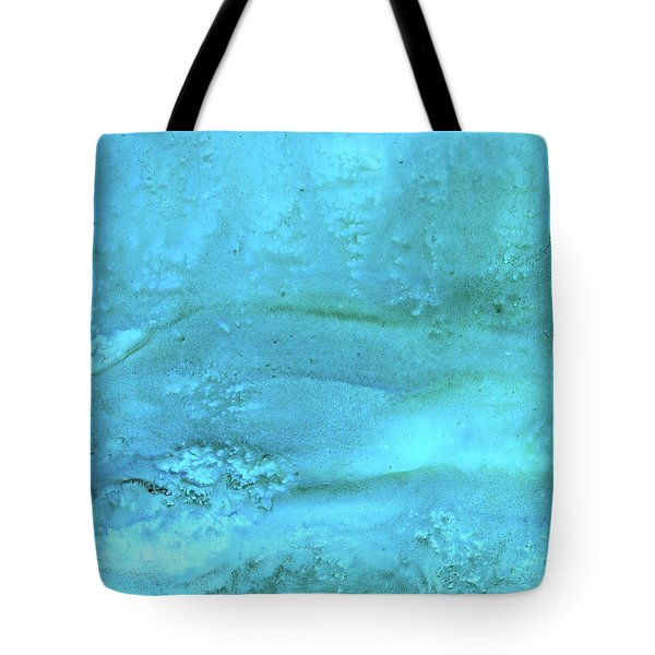 Wave Action Turquoise Tote Bag
