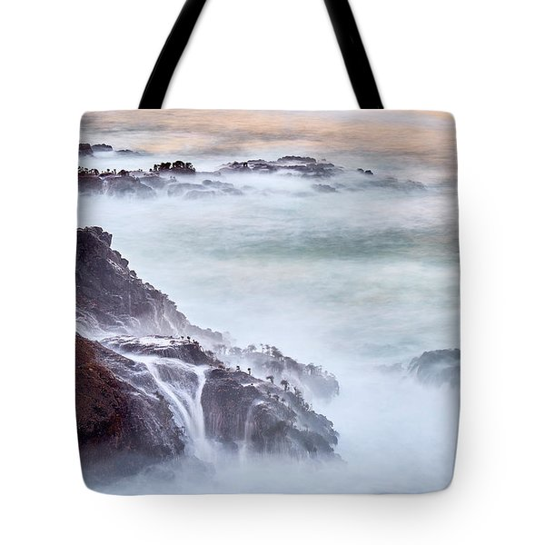 Tote Bag featuring the photograph Wave Falls by Whitney Goodey