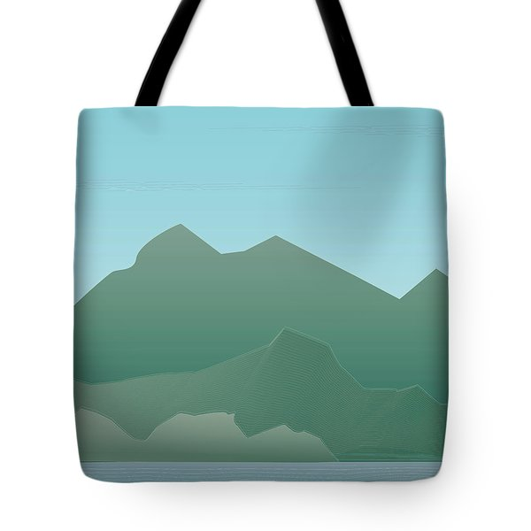 Wave Mountain Tote Bag