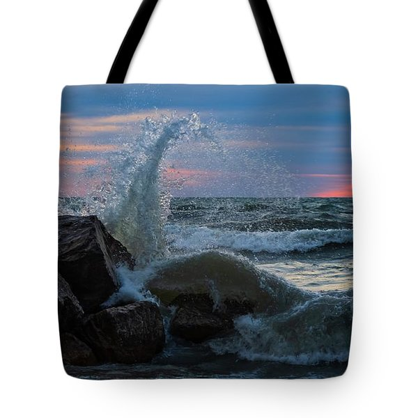 Wave Vs Rock Tote Bag