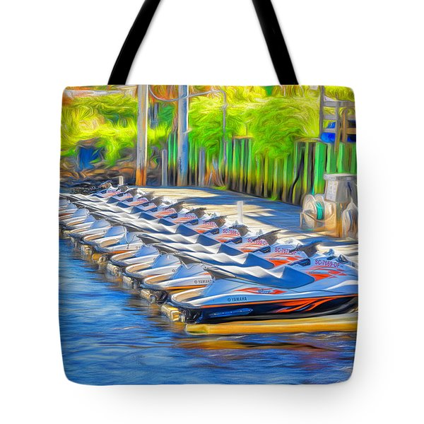 Waverunners Painterly Tote Bag