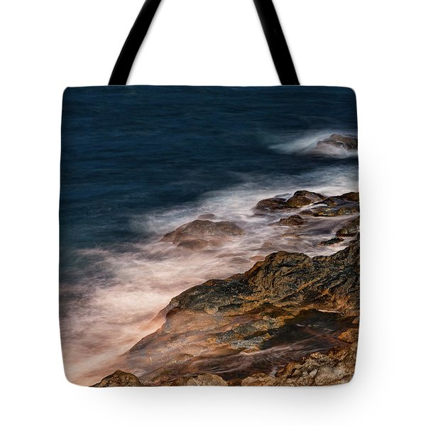 Tote Bag featuring the photograph Waves And Rocks At Sozopol Town by Milan Ljubisavljevic
