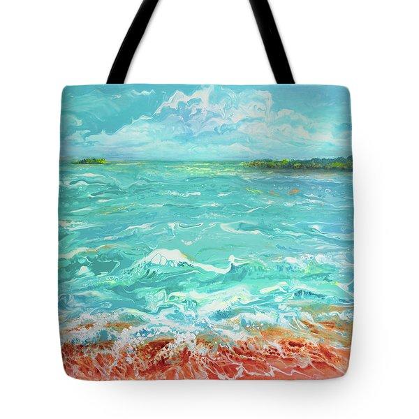 Waves At Sombrero Beach Tote Bag