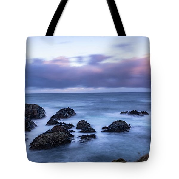 Waves At The Shore In Vesteralen Recreation Area Tote Bag