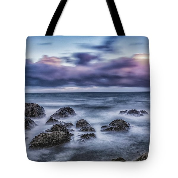 Waves At The Shore Tote Bag