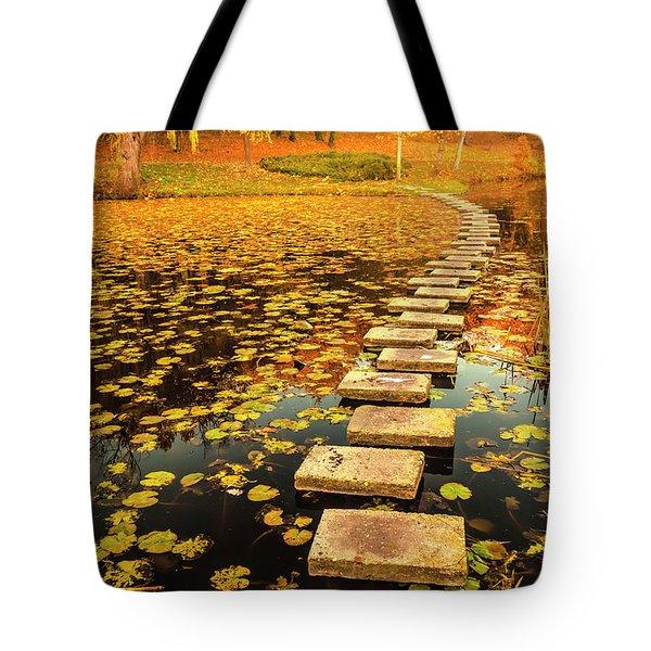 Way In The Lake Tote Bag