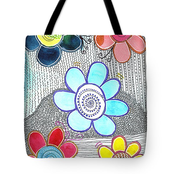 Tote Bag featuring the drawing We Are All The Same, But Different by Bee-Bee Deigner