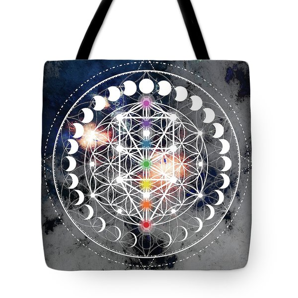 Tote Bag featuring the digital art We Are Beings Of Light by Bee-Bee Deigner