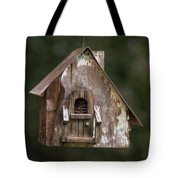 Tote Bag featuring the photograph Weathered Bird House by Dale Kincaid