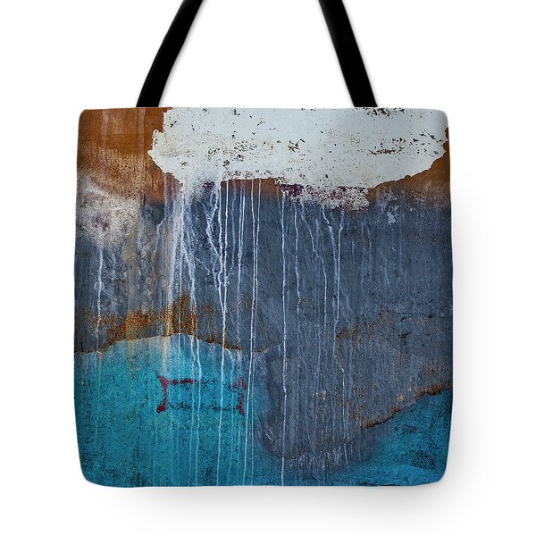 Weathered Paint Detail Tote Bag