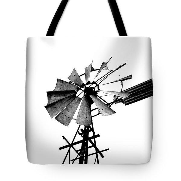 Weathered Windmill - B-w Tote Bag