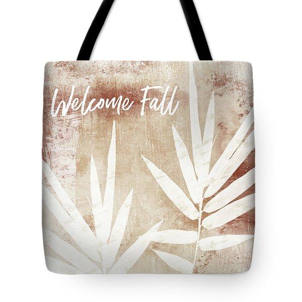 Welcome Fall Leaf- Art By Linda Woods Tote Bag