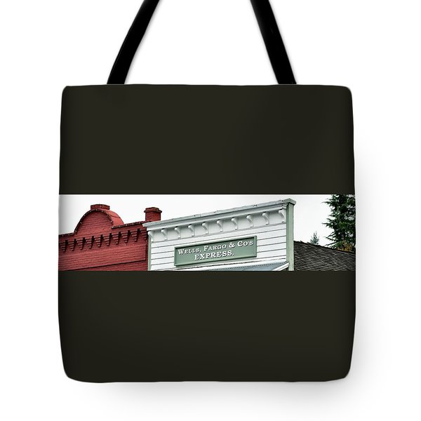 Tote Bag featuring the photograph Wells Fargo by Jerry Sodorff