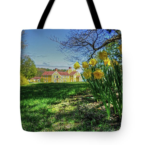 Tote Bag featuring the photograph Wentworth Daffodils by Wayne Marshall Chase