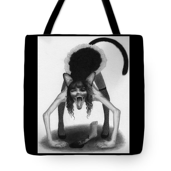 Tote Bag featuring the drawing Wereneko Artwork by Ryan Nieves
