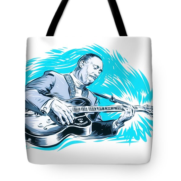 Wes Montgomery - An Illustration By Paul Cemmick Tote Bag