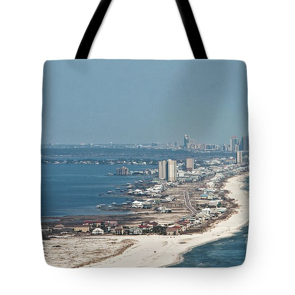Tote Bag featuring the photograph West Beach-1 by Gulf Coast Aerials -