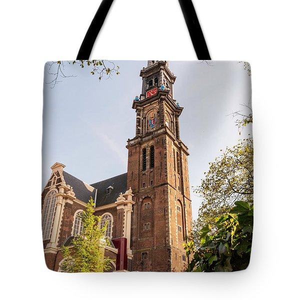 Westerkerk In Amsterdam Tote Bag