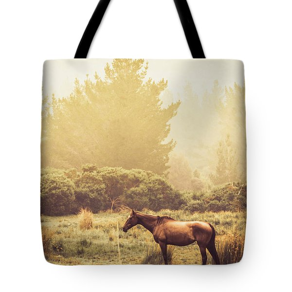 Western Ranch Horse Tote Bag