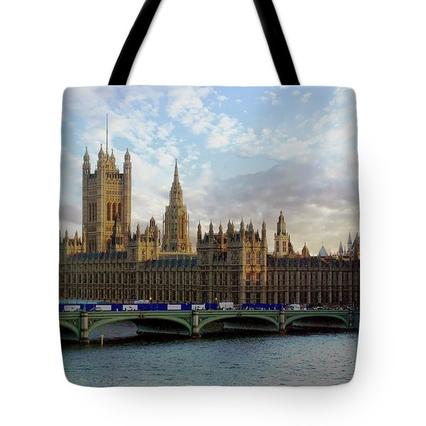 Tote Bag featuring the photograph Westminster Palace by Anthony Dezenzio