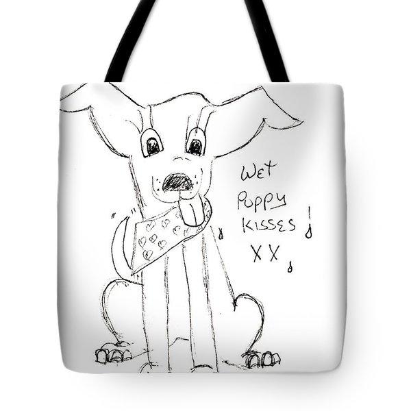 Wet Puppy Kisses Tote Bag