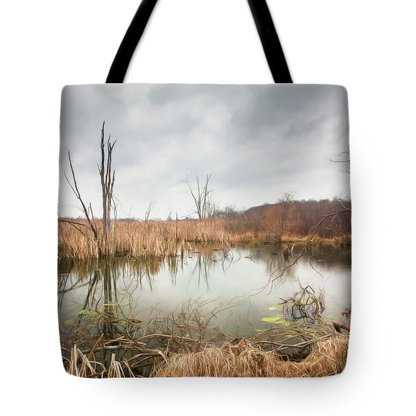 Wetlands On A Dreary Day Tote Bag