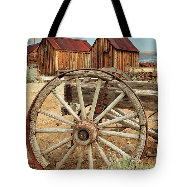Wheels And Spokes In Color Tote Bag