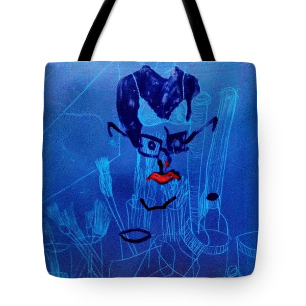 When His Face Is Blue For You Tote Bag