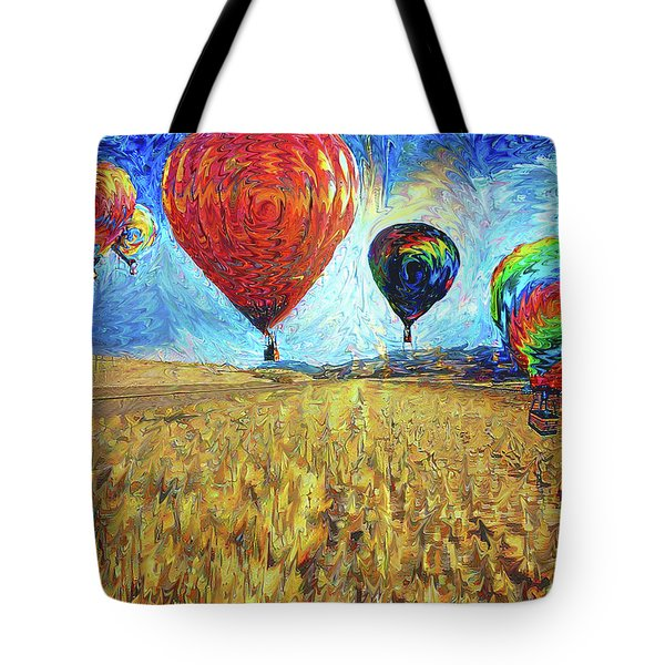 When The Sky Blooms Tote Bag