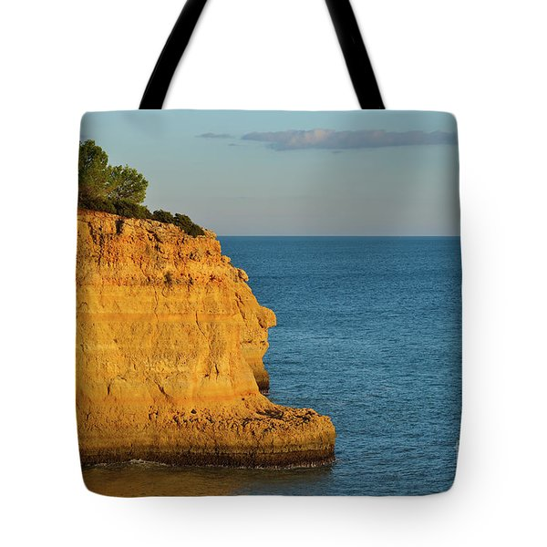 Where Land Ends In Carvoeiro Tote Bag