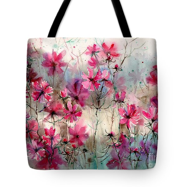 Where Pink Flowers Grew Tote Bag