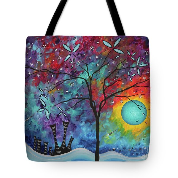 Whimiscal Abstract Original Painting Tree Art By Megan Duncanson Madart Tote Bag