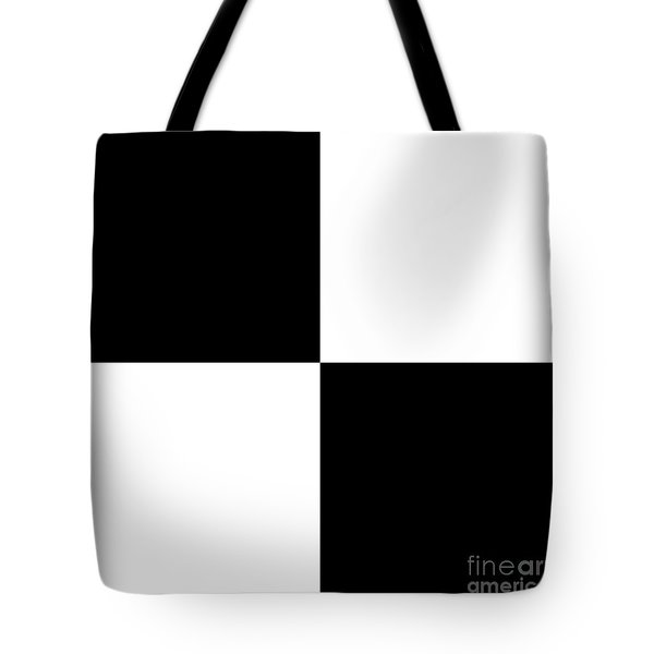 White And Black Squares - Ddh586 Tote Bag