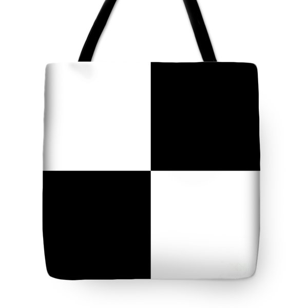 White And Black Squares - Ddh588 Tote Bag