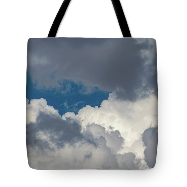 White And Gray Clouds Tote Bag
