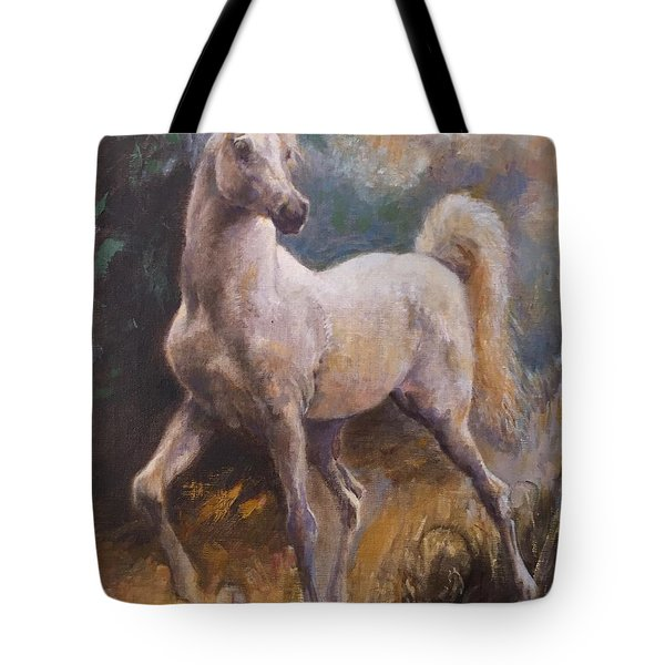 White Arabian Tote Bag