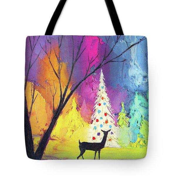 White Christmas Tree Tote Bag