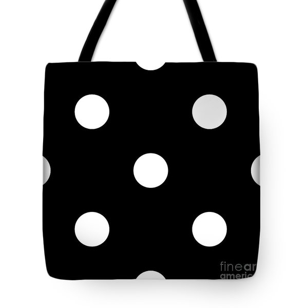 White Dots On A Black Background- Ddh612 Tote Bag