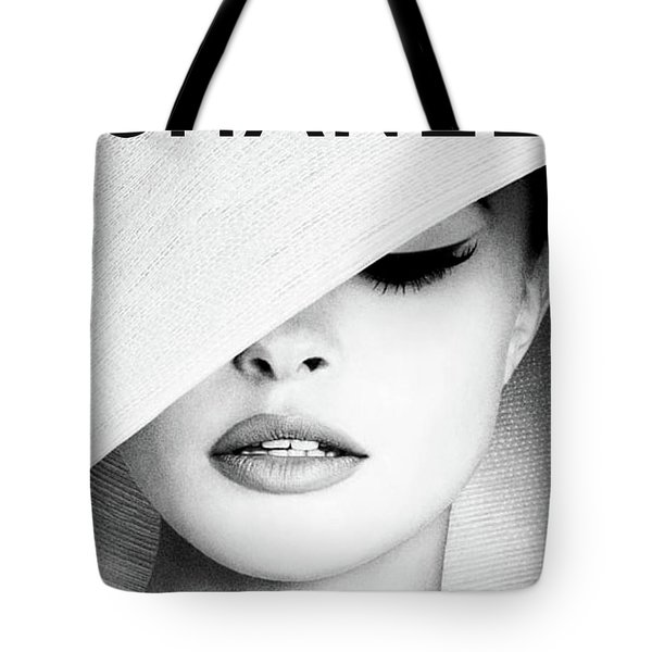 White Hat Cover, Coco Chanel Tote Bag