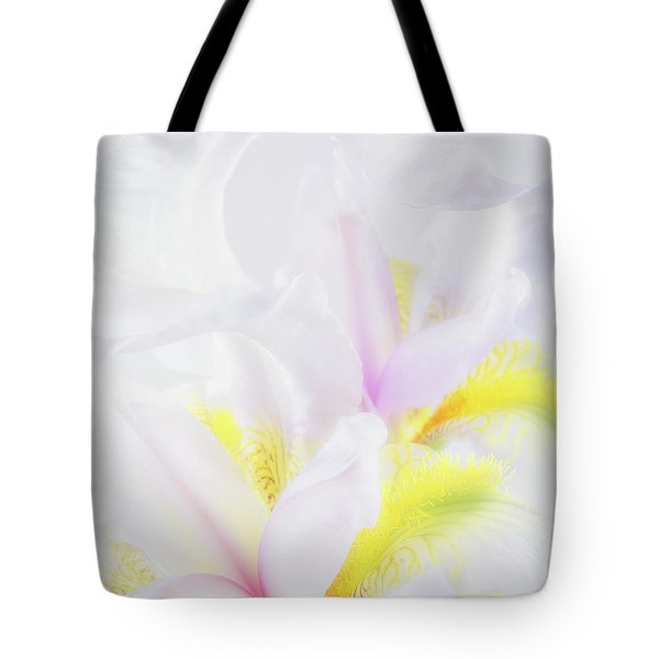 Tote Bag featuring the photograph White Iris by Leland D Howard