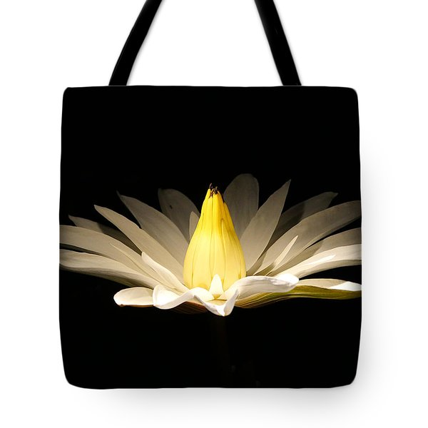White Lily At Night Tote Bag