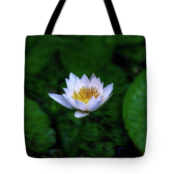 White Lotus Tote Bag