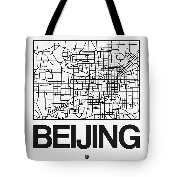 White Map Of Beijing Tote Bag