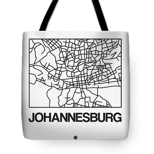 White Map Of Johannesburg Tote Bag