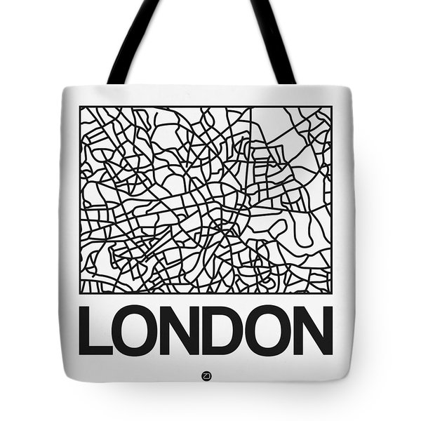 White Map Of London Tote Bag
